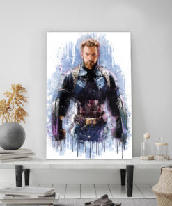 tableau super héros captain america de marvel