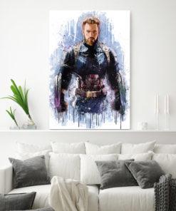 tableau super héros captain america de marvel
