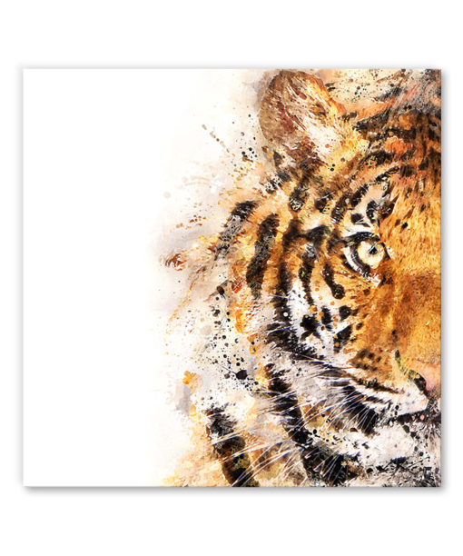 tableau portrait tigre aquarelle