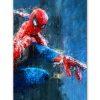 tableau deco spiderman effet peinture