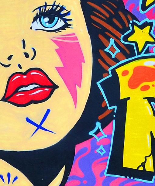 tableau street art cartoons