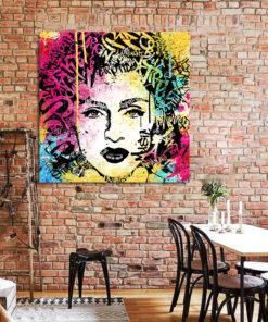 tableau deco madonna street art