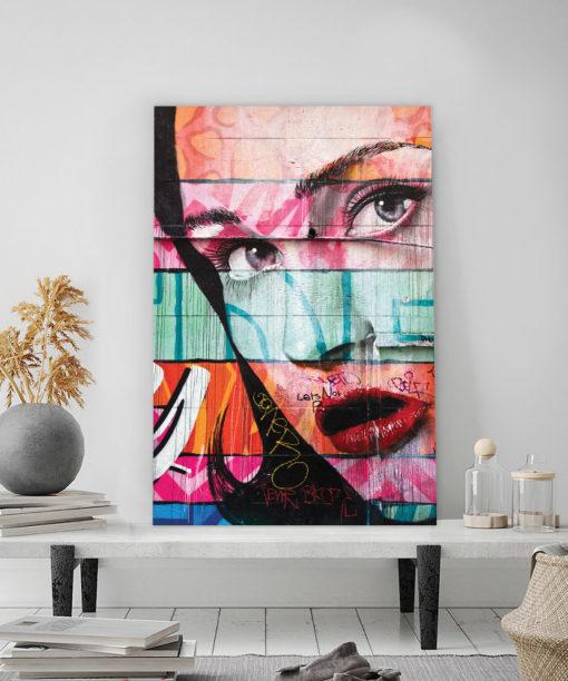 tableau deco street art regard de femme