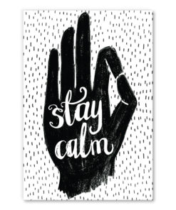 tableau deco citation reste calme - stay calm