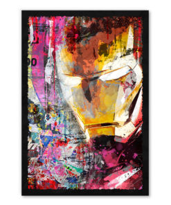 tableau collage pop art iron man marvel