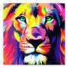 tableau lion multicolor pop art
