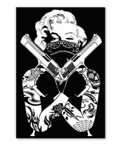 tableau Marylin Monroe Tattoo Guns pop art street