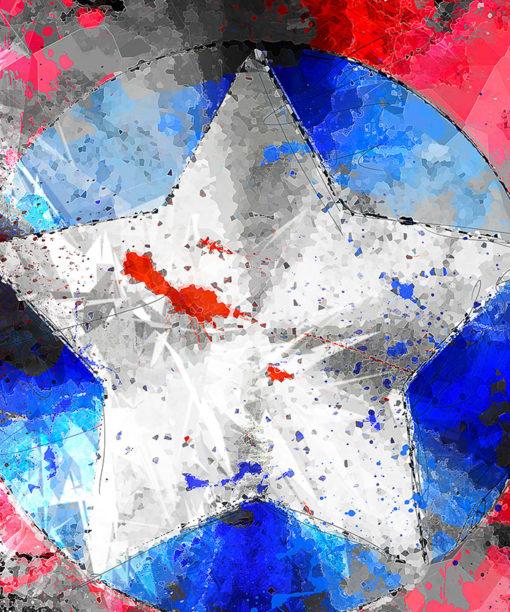 tableau captain america super héros marvel comics