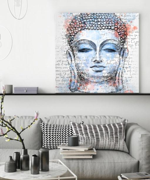 tableau decoratif bouddha aquarelle zen
