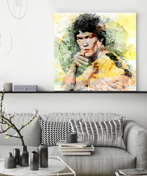 tableau decoratif mural bruce lee