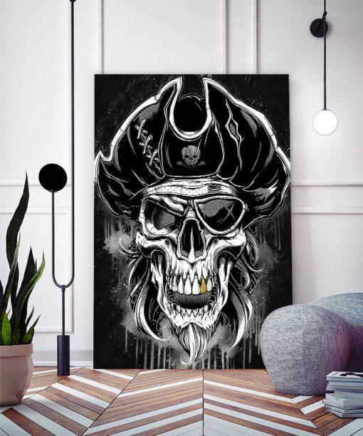 tableau tête de mort pirate