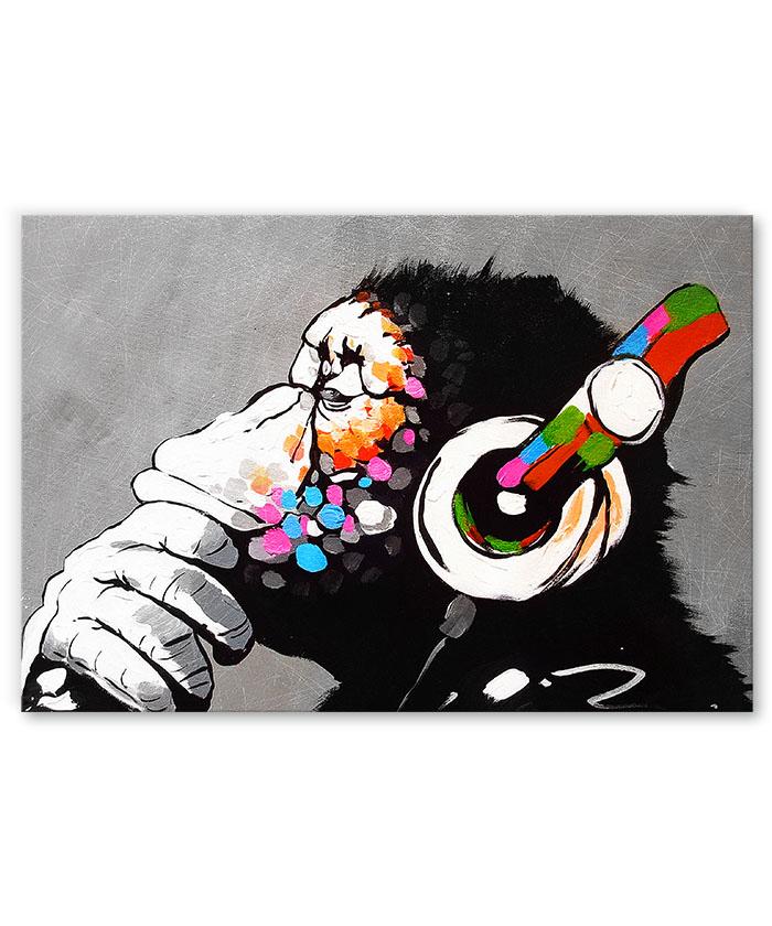 tableau pop art singe music
