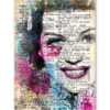 tableau Rita Hayworth vintage pop art