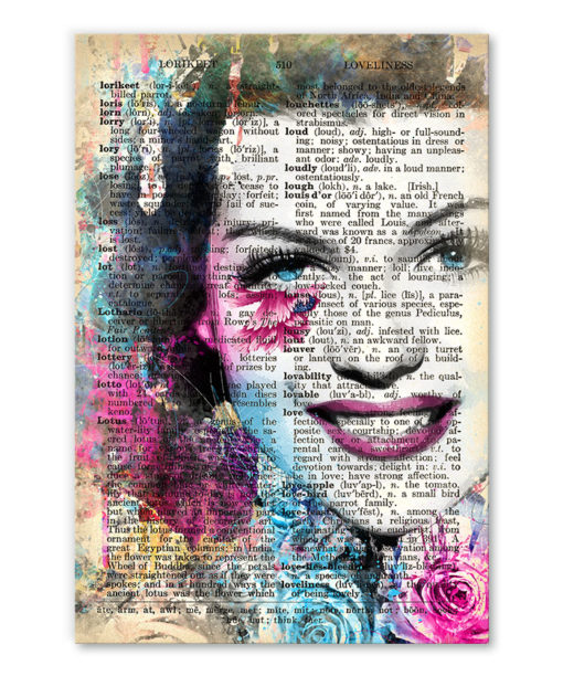 tableau Rita Hayworth vintage pop art
