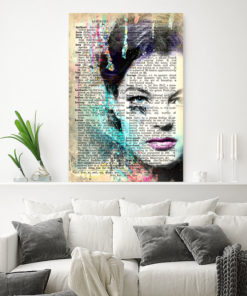 tableau Romy Schneider vintage pop art