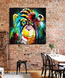 tableau singe peinture pop art