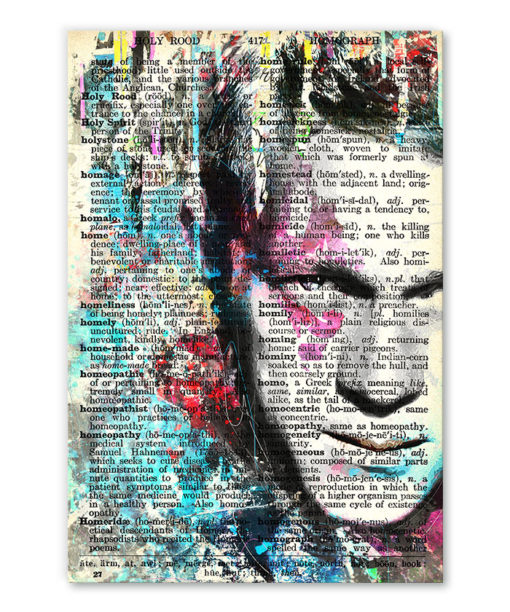 tableau Steve McQueen vintage pop art