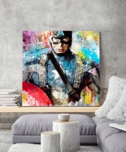 tableau deco mural captain america bande dessinée