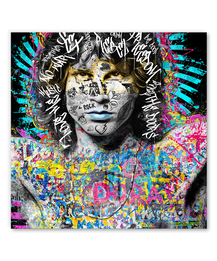 Tableau street art pop Jim Morrison The doors