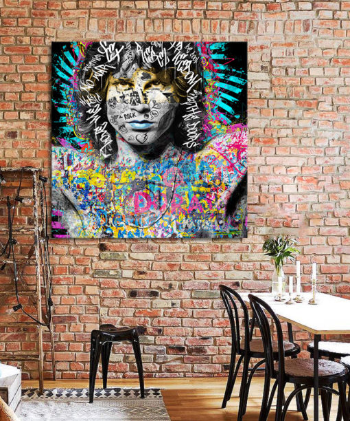 Tableau street art pop Jim Morrison The doors