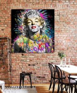 Tableau Marilyn Monroe Street Art Pop Art