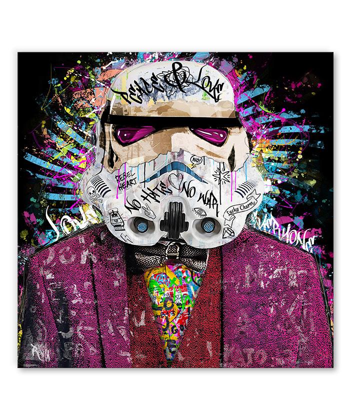 tableau stormtrooper star wars street art pop art