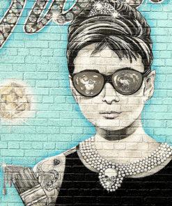 tableau audrey hedburn street art