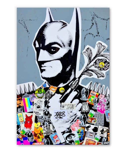 tableau batman street art collage