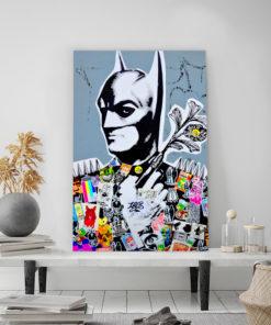 tableau batman street art collage