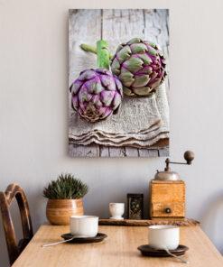 Tableau décoratif cuisine légumes artichauts