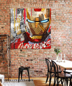 tableau deco iron man pop art