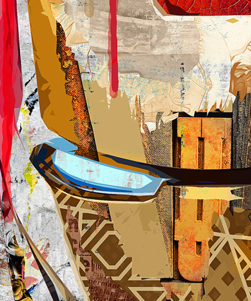 tableau deco iron man pop art