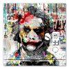 tableau joker street-art pochoir