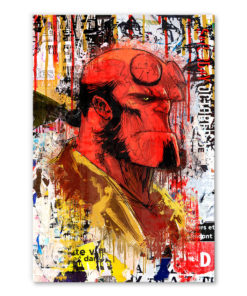 tableau deco hellboy street-art