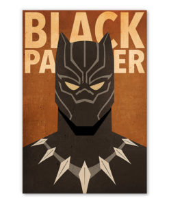 tableau deco black panther marvel minimaliste