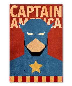 tableau captain america super heros marvel minimaliste