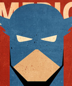 tableau captain america super heros marvel minimaliste