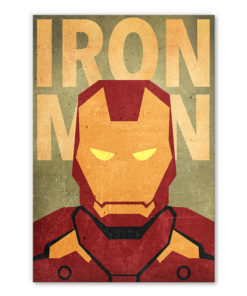 tableau iron man super héros marvel minimaliste