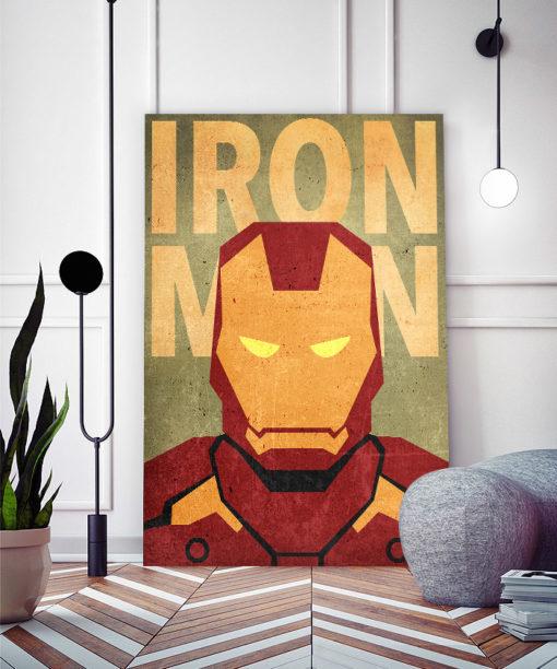 tableau iron man super héros marvel minimaliste