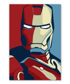 tableau iron man avengers pop art style affcihe obama