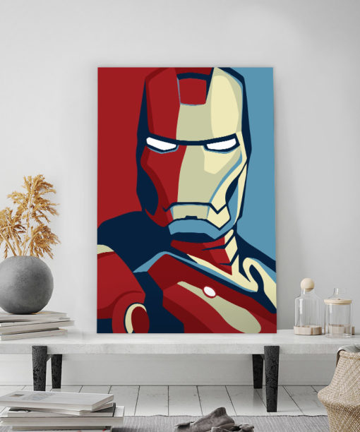 tableau iron man avengers pop art style affcihe obama