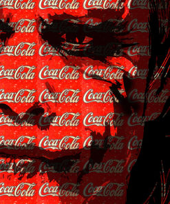 tableau joker pop art coca cola