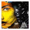 tableau street art deux portraits