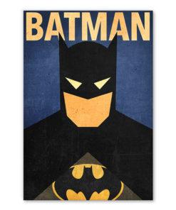 tableau batman super héros dc-comics minimaliste