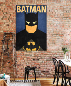 tableau batman super héros dc-comics minimaliste