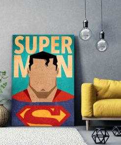 tableau superman super héros dc-comics minimaliste