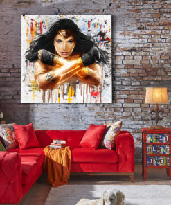 tableau décoratif wonder woman dc comics