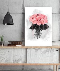 tableau floral bouquet de roses