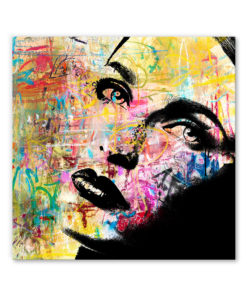 tableau portrait de femme pop street art