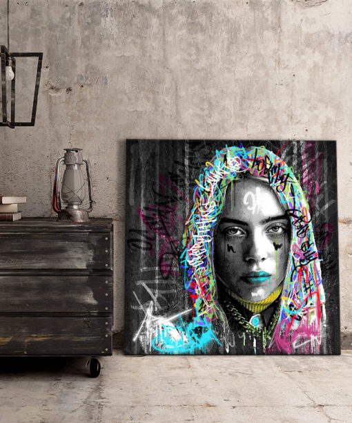Tableau Billie Eilish Street Art